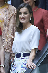 July 3, 2018 - Madrid, Madrid, Spain - Queen Letizia of Spain attends attends a meeting 'Mujeres por Africa' Foundation at Endesa Headquarters on July 3, 2018 in Madrid, Spain (Credit Image: © Jack Abuin via ZUMA Wire)
