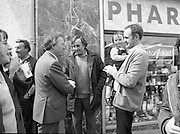 Taoiseach's Election Campaign.      (N77)..1981..23.05.1981..05.23.1981..23rd May 1981..On the 21st May the Taoiseach, Mr Charles Haughey, dissolved the Dáil and called a general election. Charles Haughey, Garret Fitzgerald and Frank Cluskey were leading their respective parties into a general election for the first time as they had only taken party leadership during the last Dáil..Fianna Fáil had hoped to call the election earlier, but the Stardust Tragedy caused the decision to be deferred...On his whistle stop tour of Dublin, Charles Haughey is pictured meeting voters in Malahide,Co Dublin.
