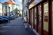 A woman with face mask in the city center of Prague. On March 1st, 2021 the state of emergency in the Czech Republic was reinstalled because of fast increasing numbers in infections. The lockdown was reinstated and the restriction of the free movement of people has taken effect. Currently, the country remains at the highest stage of the anti-epidemiological system and the newly imposed restriction will last at least three weeks to curb the epidemic.
