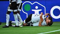 Football UEFA Champions League Q3<br /> Rosenborg - Maribor<br /> Lerkendal Stadium, Trondheim, Norway<br /> 13 August 2019<br /> <br /> Anders Konradsen (underst) har scoret 2-1 for Rosenborg og blir gratulert av Alexander Søderlund <br /> <br /> Foto : Arve Johnsen, Digitalsport