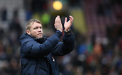 Peterborough United Manager Grant McCann acknowledges the traveling Peterborough United supporters at full-time - Mandatory by-line: Joe Dent/JMP - 04/03/2017 - FOOTBALL - Coral Windows Stadium - Bradford, England - Bradford City v Peterborough United - Sky Bet League One