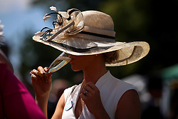 Racegoers enjoy a drink during day four of Royal Ascot at Ascot Racecourse.