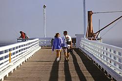 Couple On Pier At San Simeon