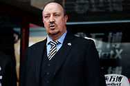 Newcastle United Manager Rafael Benitez looks on from the dugout.  Premier League match, Crystal Palace v Newcastle Uutd at Selhurst Park in London on Sunday 4th February 2018. pic by Steffan Bowen,