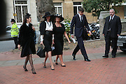 Lucy Ferry, India Jane Birley, Lady Annabel Goldsmith and Robin Birley. Mark Birley funeral. St Paul's , Knightsbridge. London. 19 September 2007. -DO NOT ARCHIVE-© Copyright Photograph by Dafydd Jones. 248 Clapham Rd. London SW9 0PZ. Tel 0207 820 0771. www.dafjones.com.