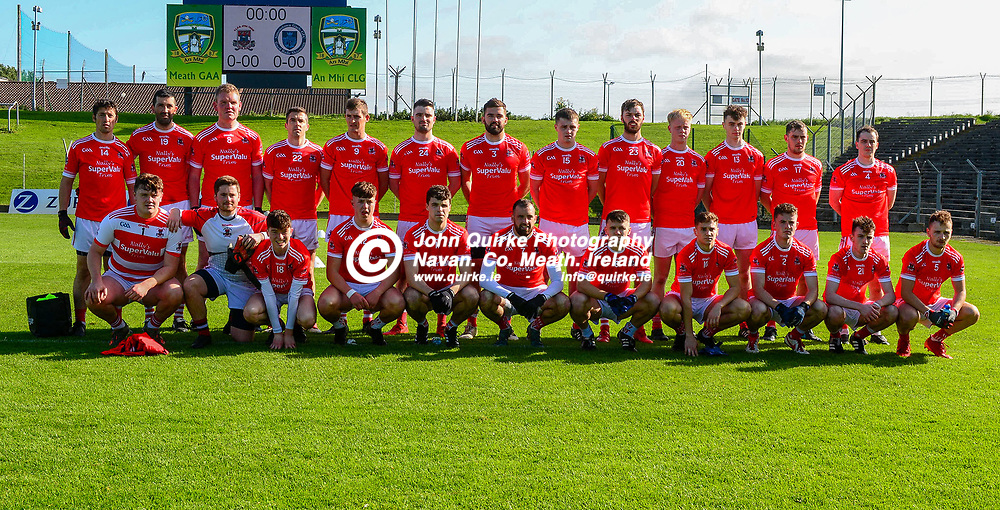 Trim players   in the Trim v Simonstown, Premier FC Div 2 final match at Páirc Tailteann, Navan.<br /> <br /> Back from lerft: Owen McGrath, Joe O'Donoghue, Frankie Murphy, Robert Kenny, Diarmuid Higgins, Luke Moran, Cathal Birmingham, Michael Cullen, Mark Murray, Henry Kennedy, James Murray, Patrick Lennon and Eoin Sweeny.<br /> <br /> Front from left: Peter Farrell, Conall McGeana, Sean Foley, Mikey Cole, James Cullen, Paul Munnelly, Daryl Phelan, Patrick Quigley, Dylan Finnerty, Danny Coleman and David Murtagh.<br /> <br /> <br /> Photo: GERRY SHANAHAN-WWW.QUIRKE.IE<br /> <br /> 20-09-2020