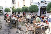 Cordoba, Andalucia, Spain outdoor cafe