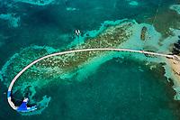 France, Martinique, Sainte-Anne, plage de Pointe Marin, le ponton du Club Med Les Boucaniers // France, West Indies, Martinique, Sainte-Anne, Pointe Marin beach, the pontoon of Club Med Les Boucaniers