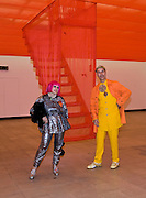 ZANDRA RHODES; ANDREW LOGAN, The Hayward Gallery 40th birthday Gala. hayward Gallery. South Bank. 9 July 2008 *** Local Caption *** -DO NOT ARCHIVE-© Copyright Photograph by Dafydd Jones. 248 Clapham Rd. London SW9 0PZ. Tel 0207 820 0771. www.dafjones.com.