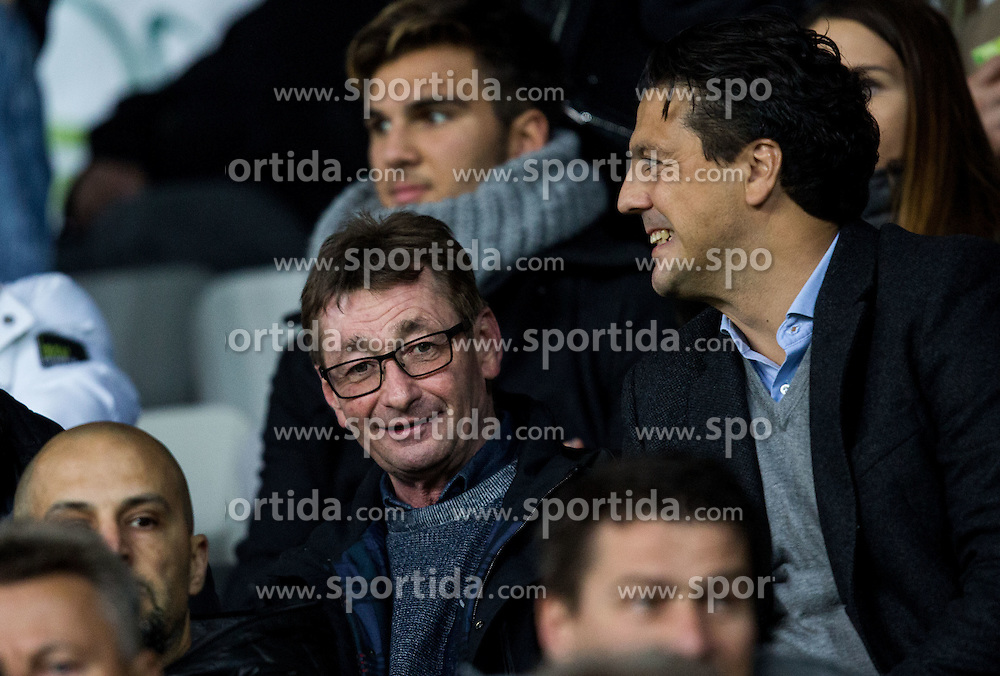 and Zlatko Zahovic ahead to the football match between National teams of Slovenia and England in Round #3 of FIFA World Cup Russia 2018 Qualifier Group F, on October 11, 2016 in SRC Stozice, Ljubljana, Slovenia. Photo by Vid Ponikvar / Sportida