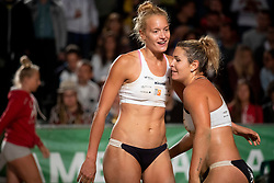 Tjasa Kotnik and Tjasa Jancar during Final of Beach Volleyball Slovenian National Championship 2018, on July 21, 2018 in Kranj, Slovenia. Photo by Urban Urbanc / Sportida