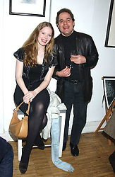 """Actress SICILY TENNANT and MATTHEW SNELL at an exhibition of photographs by Janie Rayne in collaboration with Roy Snell entitled  """"Shadow and Reflection' held at The Muse, 269 Portobello Road, London W11 on 6th March 2006.<br /><br />NON EXCLUSIVE - WORLD RIGHTS"""
