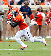 Virginia Cavaliers running back Perry Jones (33) runs the ball during the first half of the NCAA football game against the Richmond Spiders Saturday September, 1, 2012 at Scott Stadium in Charlottesville, Va.