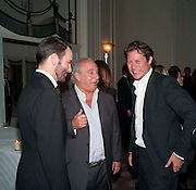 TOM FORD; SIR PHILIP GREEN; ARPAD BUSSON, Dinner to mark 50 years with Vogue for David Bailey, hosted by Alexandra Shulman. Claridge's. London. 11 May 2010