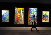 ©London News pictures...31.01.2011. Works by Marc Chagall estimated to fetch between 1-2million each. Highlights of upcoming Sotheby's sales of impressionist and modern art and contemporary art. Works on show include a Picasso portrait of his mistress and muse Marie-Therese, from 1932 which is estimated to fetch £12 to £18 million, a private commission by Marc Chagall - never before seen on the market - estimated to fetch in excess of £10m and a Hockney painting estimated at £1 to £1.5m. . Picture Credit should read Stephen Simpson/LNP