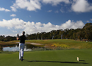 PERTH, AUSTRALIA - OCTOBER 19: Jamie Moul of England tees off on the 3rd hole during round two of the Perth International at Lake Karrinyup Country Club on October 19, 2012 in Perth, Australia.  (Photo by Paul Kane/Getty Images)