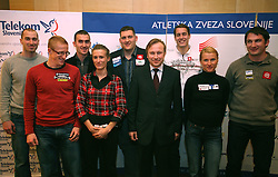 Slovenian athletes when Athletic Federation of Slovenia (AZS) and top Slovenian athletes sign a contract of sponsorship, on February 14, 2008 in M-Hotel, Ljubljana, Slovenia. (Photo by Vid Ponikvar / Sportal Images)