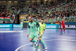 Pedro Cary of Portugal during futsal semifinal match between National teams of Russia and Portugal at Day 9 of UEFA Futsal EURO 2018, on February 8, 2018 in Arena Stozice, Ljubljana, Slovenia. Photo by Urban Urbanc / Sportida