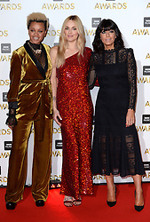 Gemma Cairney, Fearne Cotton and Claudia Winkleman arriving at the BBC Music Awards 2016, Excel Docklands, London.Picture Credit Should Read: Doug Peters/EMPICS Entertainment
