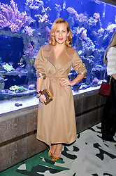 CHARLOTTE DELLAL at a dinner hosted by Creme de la Mer to celebrate the launch of Genaissance de la Mer The Serum Essence held at Sexy Fish, Berkeley Square, London on 21st January 2016.