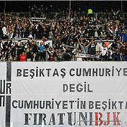 Besiktas's supporters during their Turkish superleague soccer match Kayserispor Erciyesspor between Besiktas at Kadir Has Stadium in Kayseri Turkey on Monday 27 October 2014. Photo by Aykut AKICI/TURKPIX