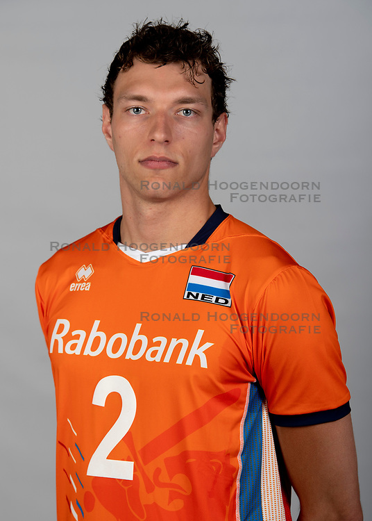 14-05-2018 NED: Team shoot Dutch volleyball team men, Arnhem<br /> Wessel Keemink #2 of Netherlands