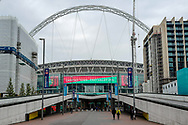 General view outside Wembley Stadium ahead of the FA Vase final match between Chertsey Town and Cray Valley at Wembley Stadium, London, England on 19 May 2019.