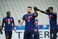 Olivier Giroud (FRA) scored a goal, celebration with Paul Pogba (FRA) during the UEFA Nations League football match between France and Sweden on November 17, 2020 at Stade de France in Saint-Denis, France - Photo Stephane Allaman / ProSportsImages / DPPI