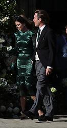 Princess Beatrice of York leaves York Minster after the wedding of Ellie Goulding and Caspar Jopling.