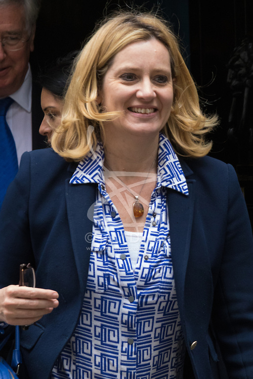 Downing Street, London, June 9th 2015. Amber Rudd, Secretary of State for Energy and Climate Change Leaves 10 Downing Street following the weekly meeting of the Cabinet.