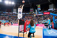 Real Madrid's player Jaycee Carroll during the 3 shot contest of Supercopa of Liga Endesa Madrid. September 24, Spain. 2016. (ALTERPHOTOS/BorjaB.Hojas)