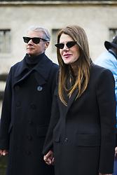 March 4, 2018 - Paris, France - Anna Dello Russo wears a black blazer jacket, black suit pants, sunglasses, outside Valentino, during Paris Fashion Week Womenswear Fall/Winter 2018/2019, on March 4, 2018 in Paris, France. (Credit Image: © Nataliya Petrova/NurPhoto via ZUMA Press)