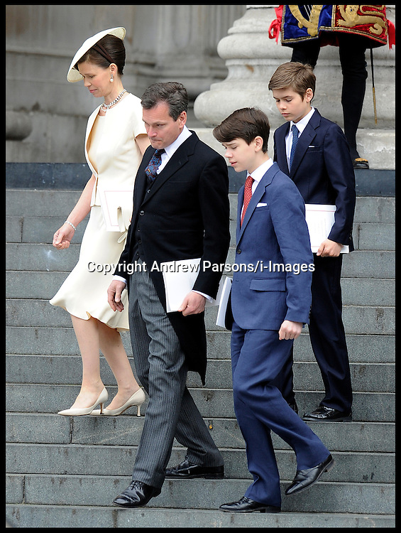 Lady Sarah Chatto and Daniel Chatto  outside St Paul's Cathedral for the National Service of Thanksgiving celebrating the Queens Diamond Jubilee Tuesday June 5, 2012. Photo By Andrew Parsons/i-Images