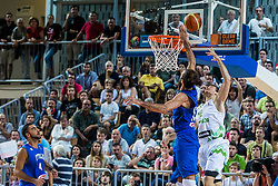 Zoran Dragic of Slovenia vs Luigi Datome of Italy during friendly basketball match between National teams of Slovenia and Italy at day 3 of Adecco Cup 2015, on August 23 in Koper, Slovenia. Photo by Grega Valancic / Sportida