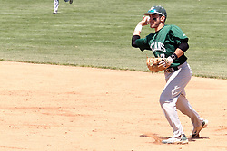 11 May 2013:  Anthony Lopez during an NCAA division 3 College Conference of Illinois and Wisconsin (CCIW) Pay in Baseball game during the Conference Championship series between the North Park Vikings and the Illinois Wesleyan Titans at Jack Horenberger Stadium, Bloomington IL