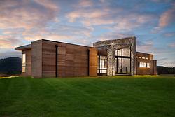 98_Lyle modern home design exterior night VA 2-174-303