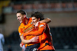 Dundee United's Louis Appere celebrates after scoring their second goal. Dundee United 2 v 1 Alloa Athletic, Scottish Championship game played 7/12/2019 at Dundee United's stadium Tannadice Park.