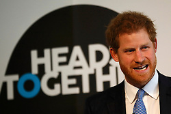 Prince Harry speaks at the Institute of Contemporary Arts in London where he outlined the next phase of the mental health Heads Together campaign.