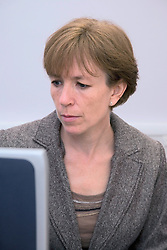 Woman working on her computer,