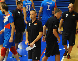Nikola Grbic, coach of Serbia during friendly volleyball match between National teams of Serbia and Slovenia, on August 18, 2017, in Belgrade, Serbia. Photo by Nebojsa Parausic / MN press / Sportida