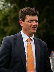 Trainer Andrew Balding during Randox Health Gentlemen's Day at Sandown Park Racecourse, Esher. PRESS ASSOCIATION Photo. Picture date: Saturday June 16, 2018. See PA story RACING Sandown. Photo credit should read: John Walton/PA Wire