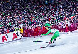 "29.01.2019, Planai, Schladming, AUT, FIS Weltcup Ski Alpin, Slalom, Herren, 2. Lauf, im Bild Stefan Hadalin (SLO) // Stefan Hadalin of Slovenia in action during his 2nd run of men's Slalom ""the Nightrace"" of FIS ski alpine world cup at the Planai in Schladming, Austria on 2019/01/29. EXPA Pictures © 2019, PhotoCredit: EXPA/ Stefanie Oberhauser"