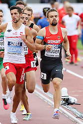 12.07.2015, Kadriorg Stadion, Tallinn, EST, U23 Leichtathletik EM, Tallinn, im Bild Dennis Krueger (GER) // Dennis Krueger (GER) competing during the 800m U23 Championships at the Kadriorg Stadion in Tallinn, Estland on 2015/07/12. EXPA Pictures © 2015, PhotoCredit: EXPA/ Eibner-Pressefoto/ Fusswinkel<br /> <br /> *****ATTENTION - OUT of GER*****