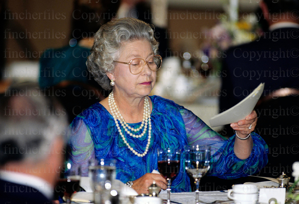 Her Majesty the Queen seen during a visit to Canada.Photographed by Terry Fincher