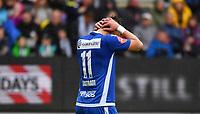 Fotball Menn Eliteserien Rosenborg - Sandefjord<br /> Lerkendal Stadion, Trondheim<br /> 8 juli 2017<br /> <br /> Sandesfjords Flamur Kastrati depper på 4-0 til Rosenborg<br /> <br /> <br /> Foto : Arve Johnsen, Digitalsport