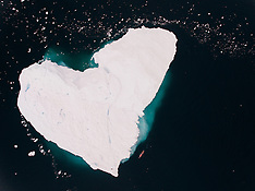 Antarctica - Lewis Pugh Swims Past Heart Shaped Iceberg - 14 Dec 2016