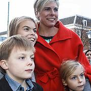 NLD/Den Haag/20131030 - Premiere Mr Finney, Prinses Laurentien en kinderen Eloise, Claus-Casimier, Leonore