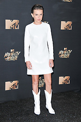 Millie Bobby Brown at the 2017 MTV Movie And TV Awards held at The Shrine Auditorium on May 7, 2017 in Los Angeles, California.<br /><br />(Photo by Sthanlee Mirador) *** Please Use Credit from Credit Field ***