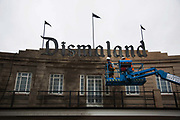 Dismaland, a bemusement park set up by artist Banksy show casing more hand 40 artists. The bemusement park is set in a former lido in Weston Super-Mare.