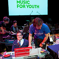 Picture Shows :.Music for Youth, a music education charity that works annually with 100,000 young people across England and Wales began its work in Scotland on Friday 28th October  2011 with a free concert at Perth Concert Hall. ..A total of 1,000 school children aged 16 and under from Perth and Kinross, Fife, West and Dunbarton and Inverness attended. The concert, supported by Creative Scotland is the launch event for Music for Youth's arrival in Scotland and was compered  by Adey Grummet. .Picture by Drew Farrell Tel : 07721-735041...The show featured performances from .The Gordon Duncan Experience.Feelfree  Conspiracy .The National Youth Choir of Scotland Stirling Area Choir.Drake Music Scotland and Kilpatrick School from West Dunbartonshire and.The National Youth Brass Band of Scotland.